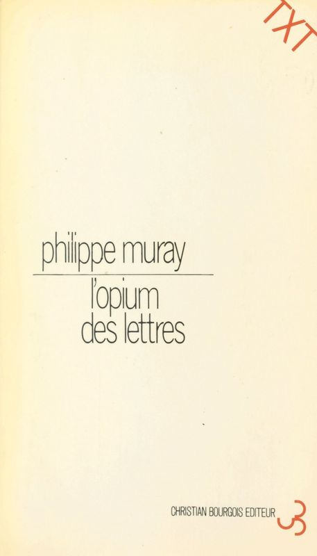 L'Opium des lettres