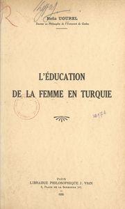 L'éducation de la femme en Turquie