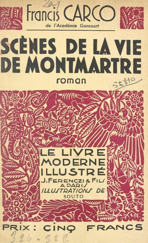 Scènes de la vie de Montmartre Bois originaux de Souto