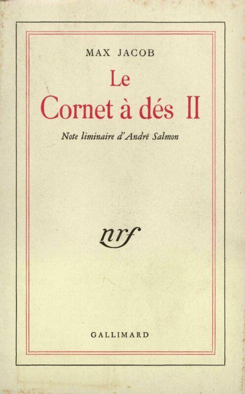 Le Cornet à dés (Tome 2). Note liminaire d'André Salmon