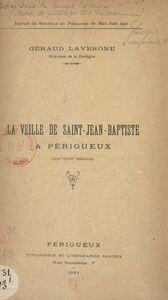La veille de Saint-Jean-Baptiste à Périgueux (XIVe-XVIIe siècles)