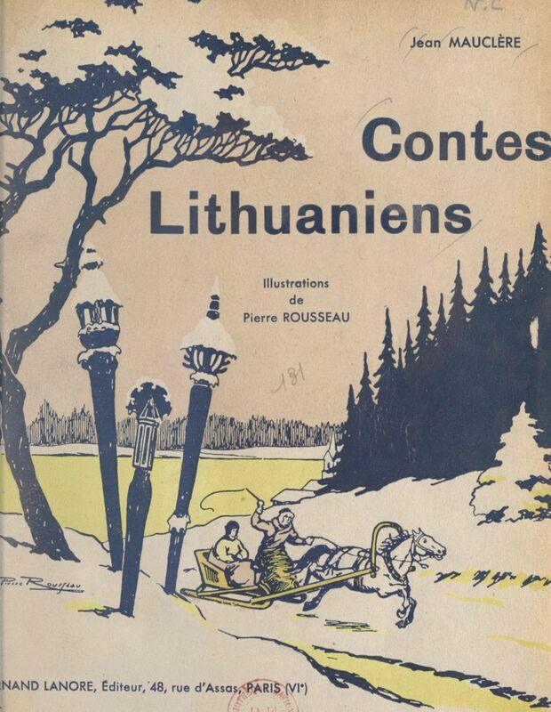 Contes lithuaniens Essai de folklore
