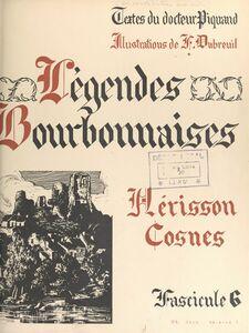 Légendes bourbonnaises (6). Hérisson, Cosnes