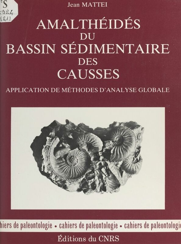 Amalthéides du bassin sédimentaire des Causses : application de méthodes d'analyse globale