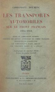 Les transports automobiles sur le front français, 1914-1918