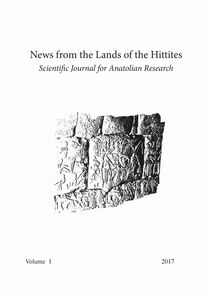 News from the Lands of the Hittites Scientific Journal for Anatolian Research