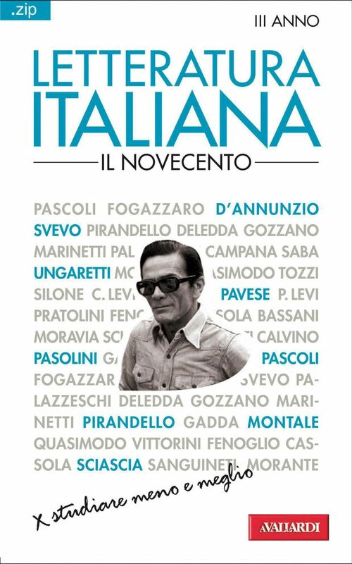 Letteratura italiana. Il Novecento Sintesi .zip
