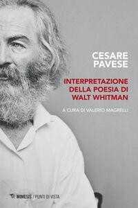 Interpretazione della poesia di Walt Whitman Tesi di laurea 1930