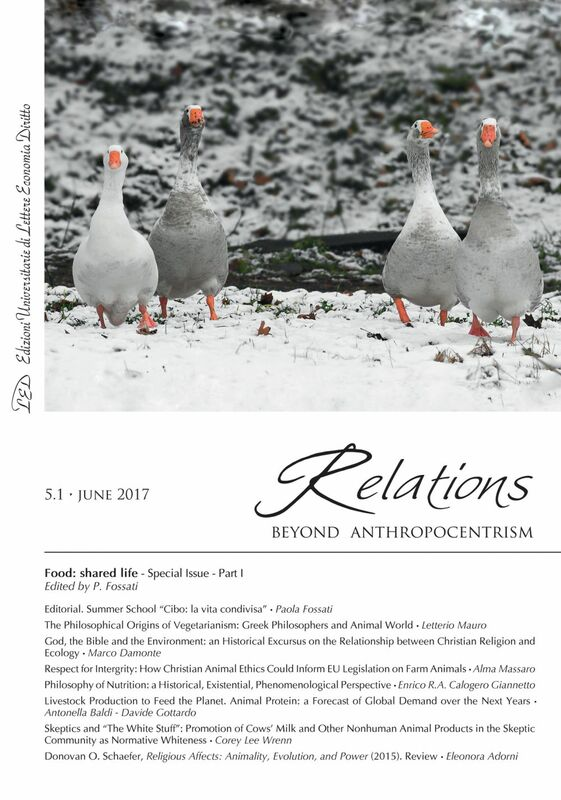 Relations. Beyond Anthropocentrism. Vol. 5, No. 1 (2017). Food: shared life: Part I