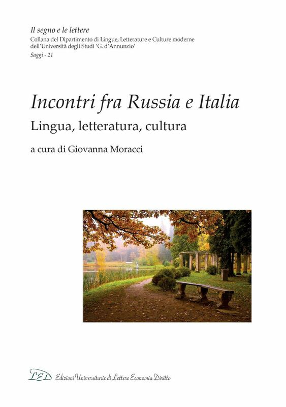 Incontri fra Russia e Italia Lingua, letteratura, cultura