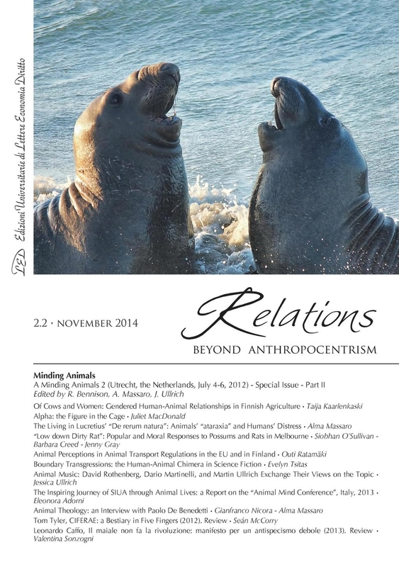 Relations. Beyond Anthropocentrism, 2.2 - Minding Animals: Part II November 2014