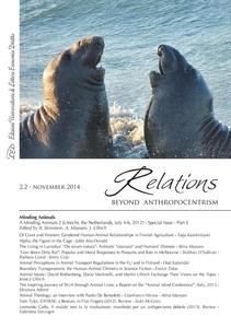 Relations. Beyond Anthropocentrism. Vol. 2 No. 2 (2014). Minding Animals: Part II
