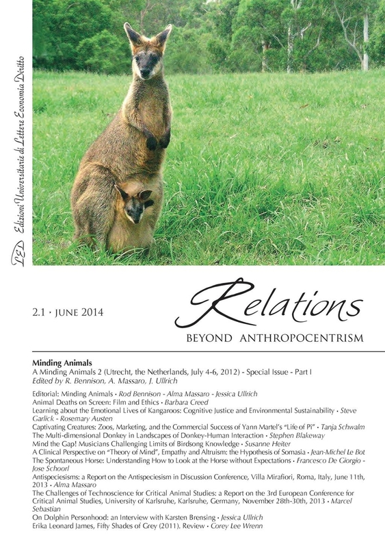 Relations. Beyond Anthropocentrism, 2.1 - Minding Animals: Part I June 2014