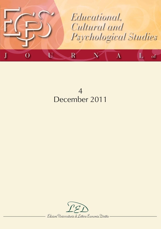 Journal of Educational, Cultural and Psychological Studies (ECPS Journal) No 4 (2011)