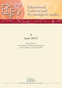 "Journal of Educational, Cultural and Psychological Studies (ECPS Journal) No 9 (2014) Special Issues on ""New Realism and Educational Research"""