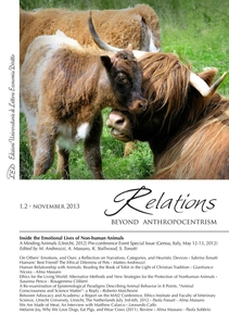Relations. Beyond Anthropocentrism, 1.2 - November 2013 Inside the Emotional Lives of Non-human Animals: Part II