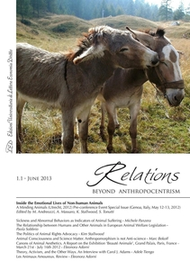 Relations. Beyond Anthropocentrism, 1.1 - June 2013 Inside the Emotional Lives of Non-human Animals: Part I