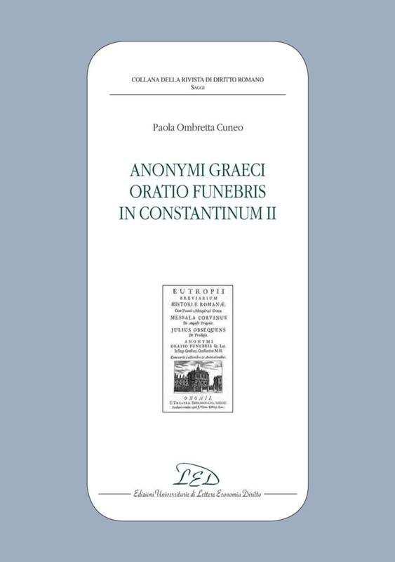 Anonymi graeci oratio funebris in Constantinum II
