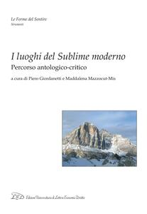 I luoghi del Sublime moderno Percorso antologico-critico