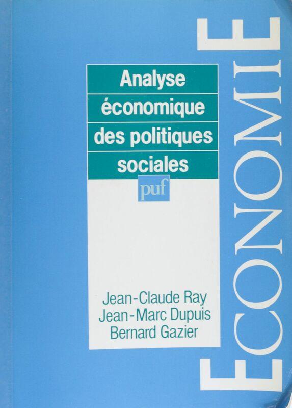 Analyse économique des politiques sociales