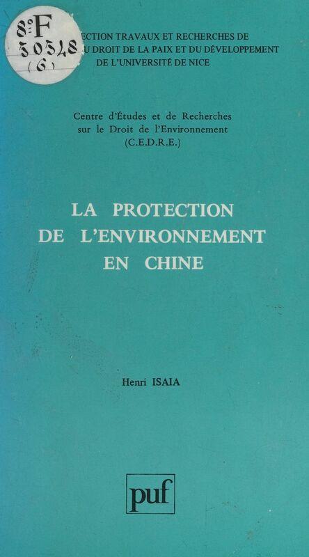 La protection de l'environnement en Chine