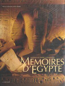 Mémoires d'Égypte : hommage de l'Europe à Champollion