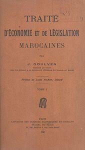 Traité d'économie et de législation marocaines (1)