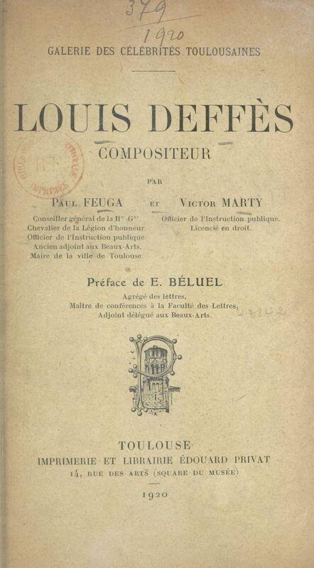 Louis Deffès, compositeur