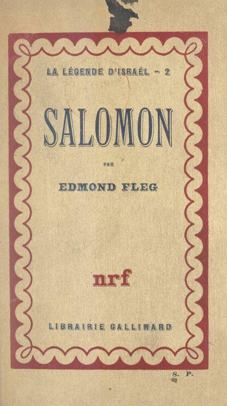 La légende d'Israël (2) Salomon