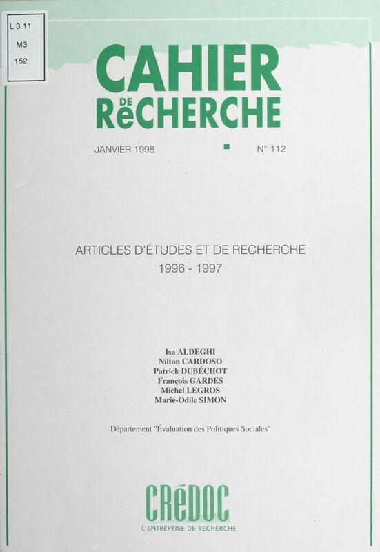 Articles d'études et de recherche, 1996-1997