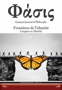 Frontières de l'identité Langues et Altérité