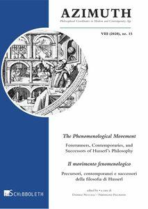 The Phenomenological Movement Il movimento fenomenologico