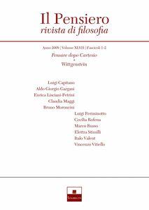 Pensare dopo Cartesio/Wittgenstein (2008/1-2)