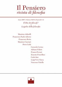 Il Dio dei filosofi?/Logiche della filosofia (2007/1-2)