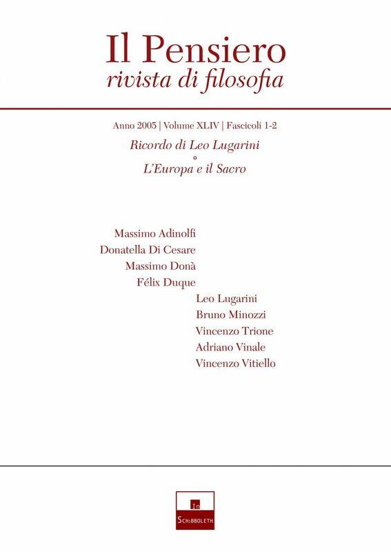 Ricordo di Leo Lugarini/L'Europa e il Sacro (2005/1-2)