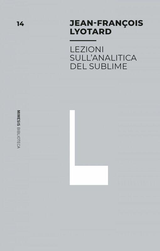 Lezioni sull'analitica del sublime