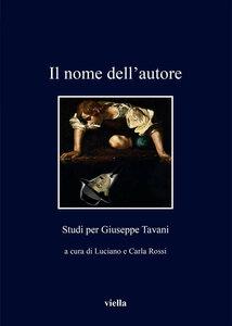 Il nome dell'autore Studi per Giuseppe Tavani