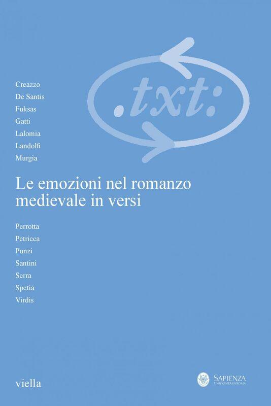 Critica del testo (2016) Vol. 19/3 Le emozioni nel romanzo medievale in versi