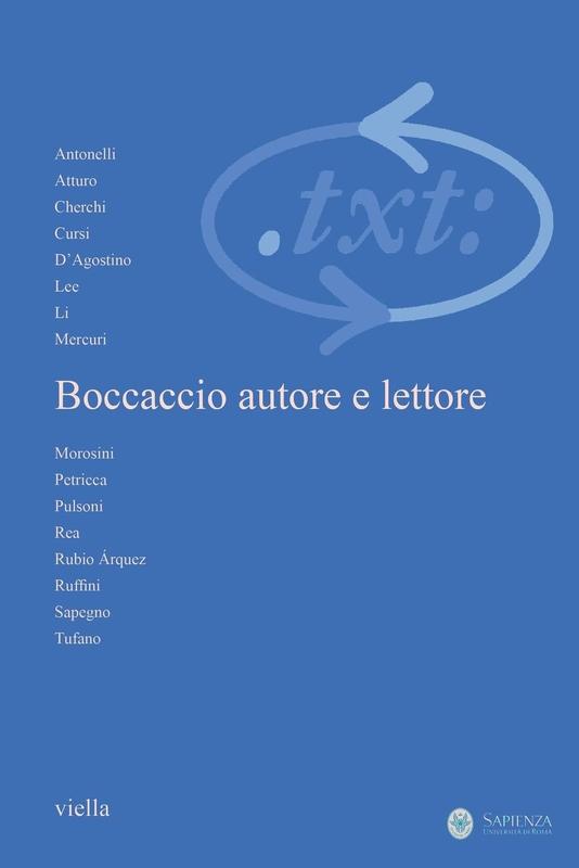 Critica del testo (2013) Vol. 16/3 Boccaccio autore e lettore