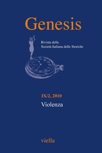 Genesis. Rivista della Società italiana delle storiche (2010) Vol. 9/2 Violenza