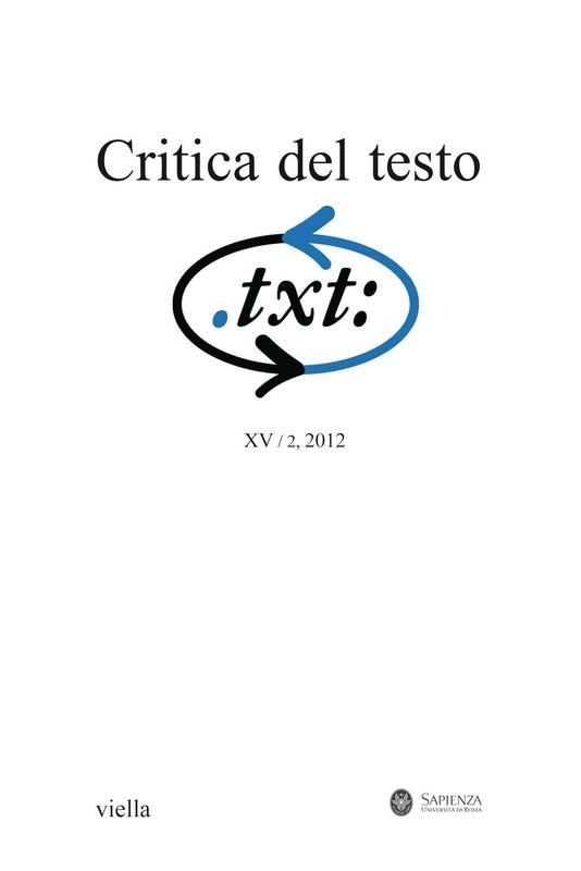 Critica del testo (2012) Vol. 15/2