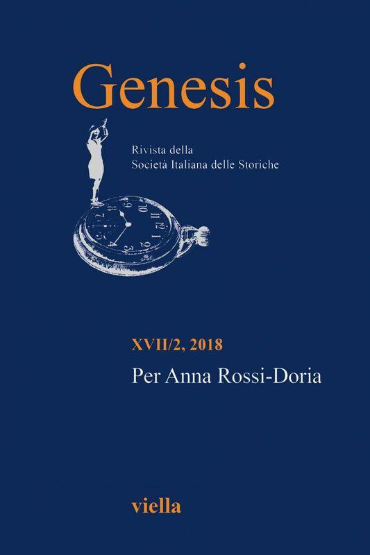 Genesis. Rivista della Società italiana delle storiche (2018) Vol. 17/2 Per Anna Rossi-Doria