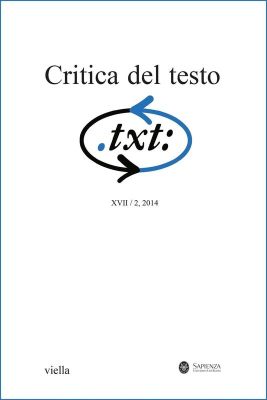 Critica del testo (2014) Vol. 17/2