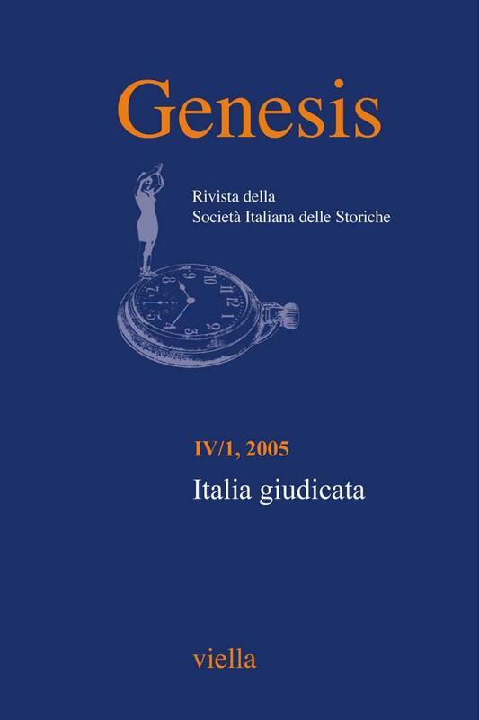 Genesis. Rivista della Società italiana delle storiche (2005) Vol. 4/1 Italia giudicata