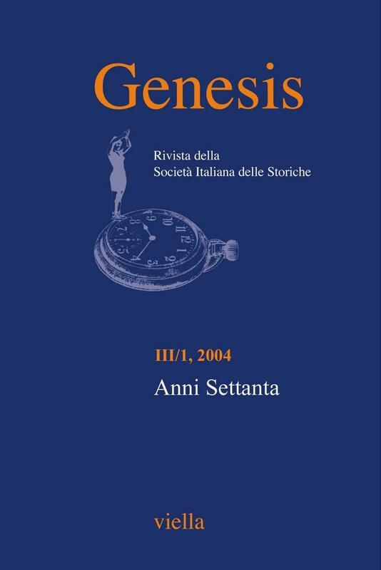 Genesis. Rivista della Società italiana delle storiche (2004) Vol. 3/1 Anni Settanta