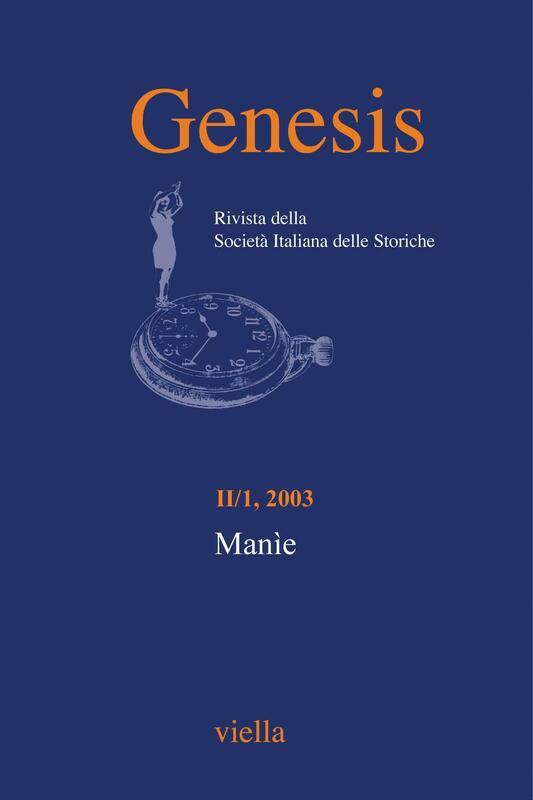 Genesis. Rivista della Società italiana delle storiche (2003) Vol. 2/1 Manìe