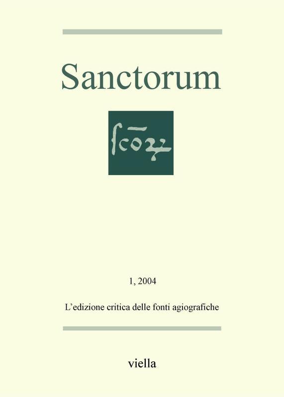 Sanctorum 1: L'edizione critica delle fonti agiografiche