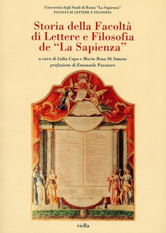 """Storia della Facoltà di Lettere e Filosofia de """"La Sapienza"""""""