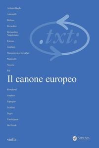 Critica del testo (2007) Vol. 10/1 Il canone europeo