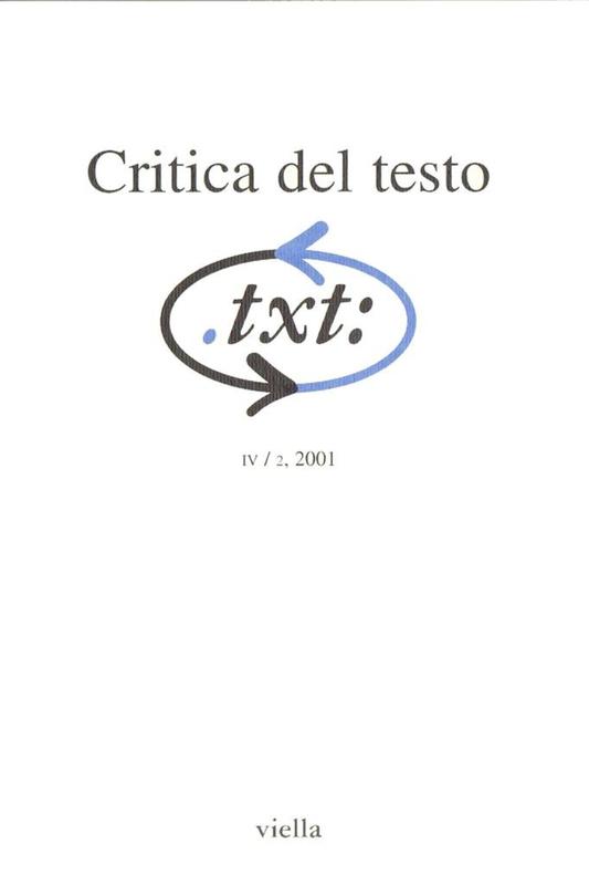 Critica del testo (2001) Vol. 4/2